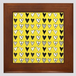 Heart Explosion Framed Tile