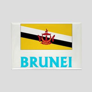 Brunei Flag Classic Blue Design Magnets