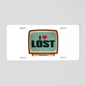 Retro I Heart LOST Aluminum License Plate