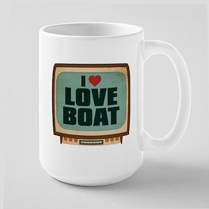 Retro I Heart Love Boat Large Mug
