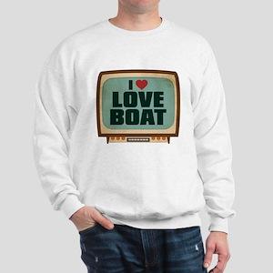 Retro I Heart Love Boat Sweatshirt