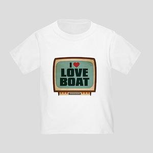 Retro I Heart Love Boat Infant/Toddler T-Shirt