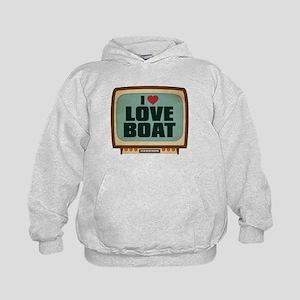 Retro I Heart Love Boat Kid's Hoodie