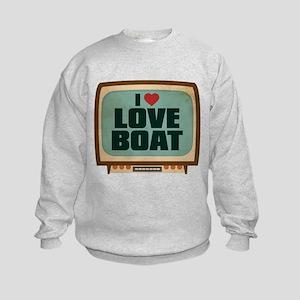 Retro I Heart Love Boat Kids Sweatshirt