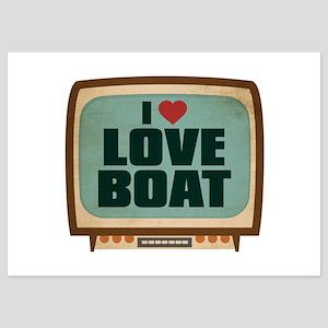 Retro I Heart Love Boat 5x7 Flat Cards