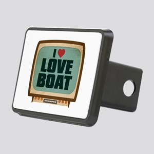 Retro I Heart Love Boat Rectangular Hitch Cover