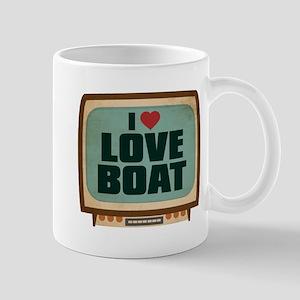 Retro I Heart Love Boat Mug