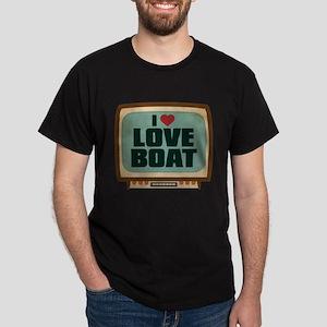 Retro I Heart Love Boat Dark T-Shirt