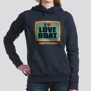 Retro I Heart Love Boat Woman's Hooded Sweatshirt