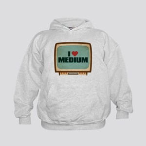 Retro I Heart Medium Kid's Hoodie