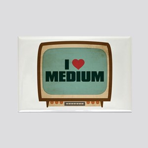 Retro I Heart Medium Rectangle Magnet