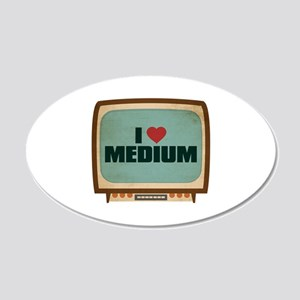 Retro I Heart Medium 22x14 Oval Wall Peel