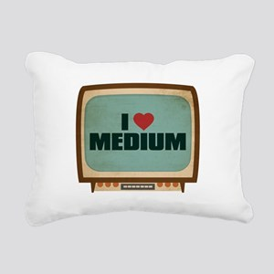 Retro I Heart Medium Rectangular Canvas Pillow