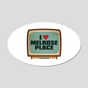 Retro I Heart Melrose Place 22x14 Oval Wall Peel