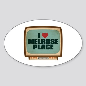 Retro I Heart Melrose Place Oval Sticker