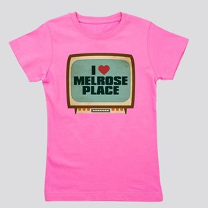 Retro I Heart Melrose Place Girl's Dark Tee