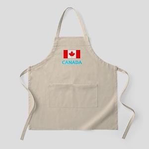 Canada Flag Classic Blue Design Light Apron