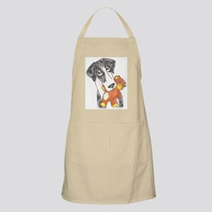 N MtlMrl Love My Teddy BBQ Apron
