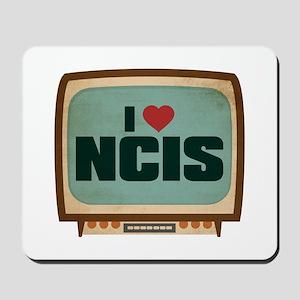 Retro I Heart NCIS Mousepad