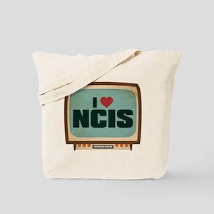 Retro I Heart NCIS Tote Bag