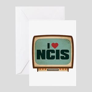 Retro I Heart NCIS Greeting Card