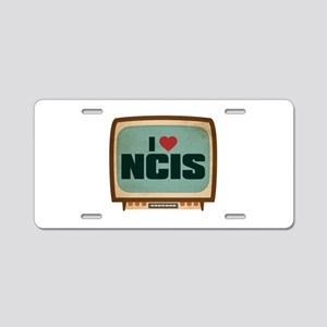 Retro I Heart NCIS Aluminum License Plate