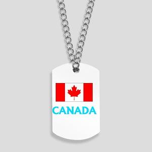 Canada Flag Classic Blue Design Dog Tags