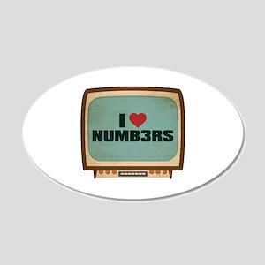 Retro I Heart Numb3rs 22x14 Oval Wall Peel