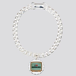 Retro I Heart Numb3rs Charm Bracelet, One Charm