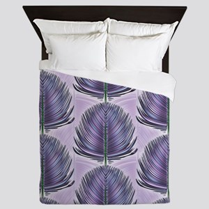 Stylized Peacock Feather - Purple Queen Duvet