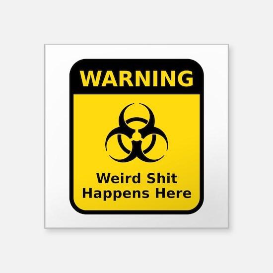 Weird Warning Sign Sticker