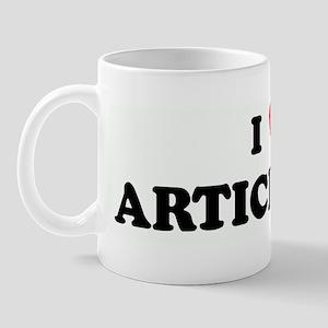 I Love ARTICHOKES Mug
