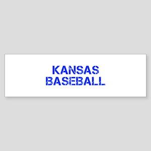 KANSAS baseball-cap blue Bumper Sticker