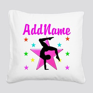 GYMNAST GIRL Square Canvas Pillow