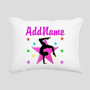 GYMNAST GIRL Rectangular Canvas Pillow