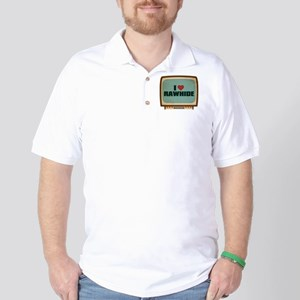 Retro I Heart Rawhide Golf Shirt