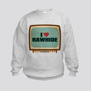 Retro I Heart Rawhide Kids Sweatshirt