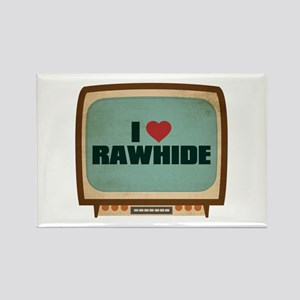 Retro I Heart Rawhide Rectangle Magnet
