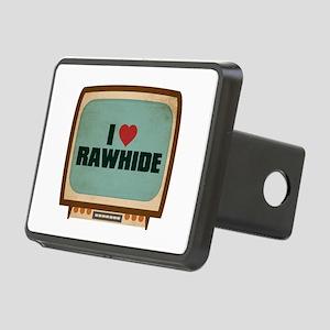 Retro I Heart Rawhide Rectangular Hitch Cover
