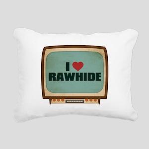 Retro I Heart Rawhide Rectangular Canvas Pillow