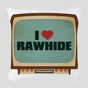 Retro I Heart Rawhide Woven Throw Pillow