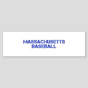 MASSACHUSETTS baseball-cap blue Bumper Sticker