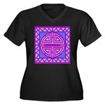 AbstractPictures Women's Plus Size V-Neck Dark T-S