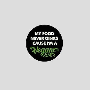 Food Never Oinks Mini Button