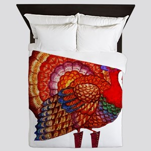Thanksgiving Fashion Turkey Queen Duvet