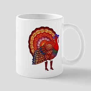 Thanksgiving Fashion Turkey Mug