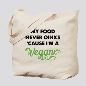 Food Never Oinks Tote Bag