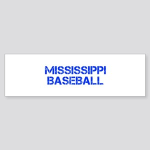 MISSISSIPPI baseball-cap blue Bumper Sticker