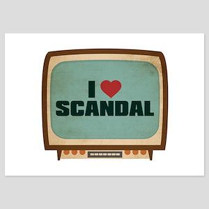 Retro I Heart Scandal 5x7 Flat Cards