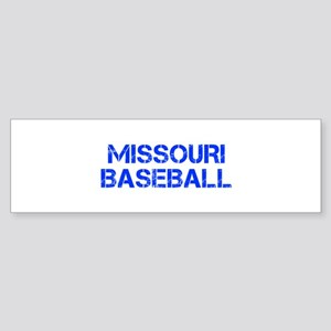 MISSOURI baseball-cap blue Bumper Sticker
